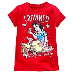 Disney store big girls snow white crowned by friendship tee md 78 Disney Rapunzel, Disney Girls, Disney Princesses, Disney Shirts For Family, Shirts For Teens, Boys Summer Outfits, Girl Outfits, Tinkerbell Outfit, Disney Clothes