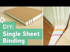 How to Bind Single Sheets : Bookbinding Tutorial - YouTube