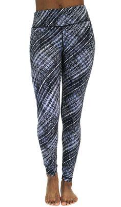 8628b82071bc0 Peachskin Brushed Printed Leggings - Moire Black Grey Printed Yoga Pants,  Printed Leggings, Things
