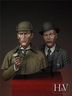 Sherlock Holmes & Dr. Watson  Sculpted by Raúl García Latorre