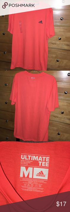Adidas athletic climate ultimate tee bright orange Adidas - climate tee - ultimate tee - men's medium. Bright orange with black logo in corner. Everything visible in photos. Any questions - feel free to leave a comment below. Adidas Shirts Tees - Short Sleeve