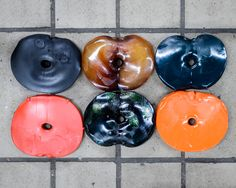 The Vinyl Record Factory That Makes Your Niche Music Dreams Come True | Colored pucks just before being pressed into records. | Credit: Alastair Philip Wiper  | From Wired.com