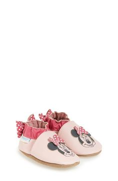 Robeez®+'Disney®+Minnie+Mouse®'+Slip-On+Crib+Shoe+(Baby+&+Walker)+available+at+#Nordstrom