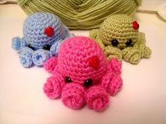 Shy Octopus crochet tutorial.  Adorable!!