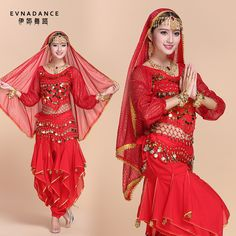 >> Click to Buy << 2016 Belly Dance Costumes Indian Dancing Dress 6 pcs Belly Dance Vestido  Women 6 Colors performance Plus-size costumes B-2341 #Affiliate