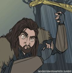 Thorin plays the song of his people… oh my fucking god I've been waiting for Thorin to play the harp and THE INTERNET HAS GRANTED ME THIS