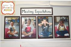 I take pictures of my students demonstrating each of our meeting expectations.  They use our signals in each of the pictures.  This is posted next to our meeting area.