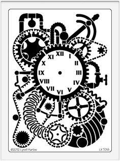 Dreamweaver Stencil - Steampunk Clock