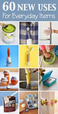 60 New Uses For Everyday Items - JUST PIN AND CHECK IT OUT LATER, ITS WORTH IT!