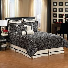 trying to find a great black and cream bed set...