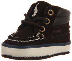 Ralph Lauren Layette Sander Mid Boot (Infant/Toddler),Chocolate Suede,2 M US Infant.