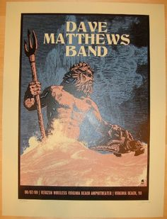 Dave Matthews Band - silkscreen concert poster (click image for more detail) Artist: Methane Studios Venue: Verizon Wireless Amphitheatre Location: Virginia Beach, VA Concert Date: 8/7/2009 Size: 18""