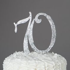 70 Cake Topper 70th Birthday or Anniversary by EllaCelebration