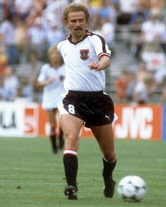 Herbert Prohaska of Austria in action at the 1986 World Cup Finals. As Roma, World Cup Final, Real Madrid, Austria, Finals, All About Time, Football, In This Moment, Running