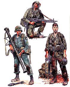 """US ARMY Airborne: • PFC, 1st Bde., 101st Abn. Div., 1965 • Specialist 4, 173d Abn. Bde., 1968 • PFC, 3d Bde., 82d Abn. Div., 1970"", Ronald Volstad"