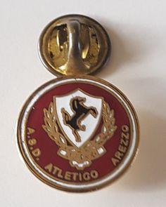 Football pin badge Atletico Arezzo (Italy)