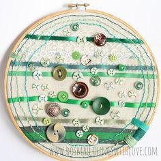 DIY Button DIY Button Hoop Art DIY Button