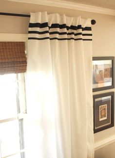 How to embellish curtain with ribbon