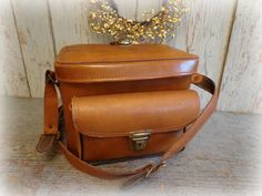 vintage camera bag / tote / carrying case / by AntiqueShopGirl, $25.00
