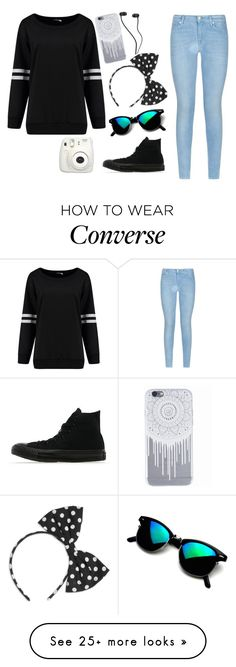 """""""going to luna park"""" by xxabbeybearxx on Polyvore featuring Converse and 7 For All Mankind"""