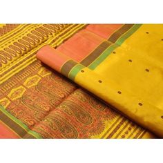 Rich #mango #yellow anyone? And the densely worked thread border is influenced by #benarasi brocades!