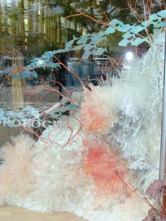 Amazing Anthro window display, plus a link to a coral reef in the Anthro magazine.