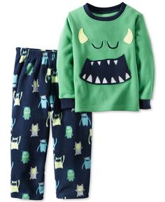 Carters Boys Leader of The Pack Wolf Striped Polyester Footed Pajama Sleeper