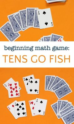 Math games 119978777560778441 - Easy math card game great for students learning early addition skills. Tens Go Fish helps kids practice simple calculations and is very easy to learn and play. Source by momandkiddo Easy Math Games, Math Card Games, Family Card Games, Kindergarten Math Games, Card Games For Kids, Math Activities For Kids, Learning Games For Kids, Playing Card Games, Math For Kids