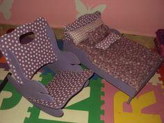 cama e cadeirinha da boneca em MDF