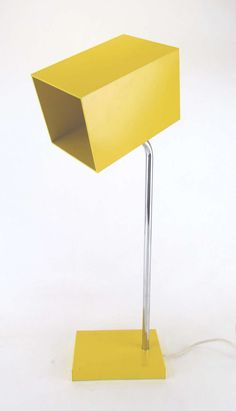 Modernist Desk Lamp with Rectilinear Shade by Robert Sonneman for Kovacs | From a unique collection of antique and modern table lamps at http://www.1stdibs.com/furniture/lighting/table-lamps/