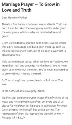Prayer For My Marriage, Godly Marriage, Faith Prayer, Marriage Relationship, Love And Marriage, Husband Prayer, Relationships, Prayer Scriptures, Bible Prayers