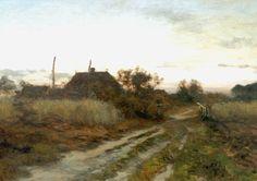 Willem Bastiaan Tholen - Avondstemming bij een boerderij