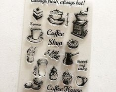 Check out our planner stamps selection for the very best in unique or custom, handmade pieces from our shops. Coffee Shop, Latte, Stamps, Handmade, Etsy, Coffee Shops, Seals, Coffeehouse, Hand Made