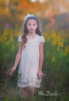 This beautiful A - line dress can be dressed up or down, it looks gorgeous and it is made of very soft and comfortable cotton and lace materials. It