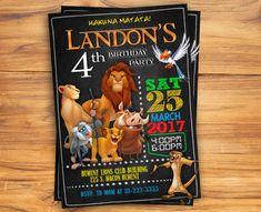 Invitación del Rey León cumpleaños del Rey León invitan al