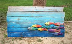 Fish Decor Hand Carved Reclaimed Wood Fish in by EcoArtWoodDesign