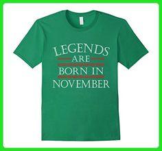 Mens Legends Are Born In November - Funny Birthday Gift T-Shirt 3XL Kelly Green - Birthday shirts (*Amazon Partner-Link)