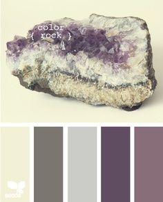 Color rock palette by design seeds Colour Pallette, Color Palate, Colour Schemes, Color Combos, Design Seeds, Wall Colors, House Colors, Hallway Colours, Color Swatches