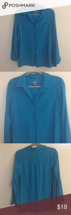 J.Jill Turquoise Silk Classic Women's Dress Shirt This beautiful 100% Silk shirt will doll up that boring suit! You will love the color and the compliments. It is high quality JJill and is brand new and never worn in perfect condition. You need this in your wardrobe. Wear to the Boardroom! J. Jill Tops Blouses