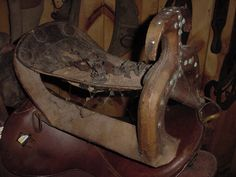 This saddle could be from the 1600's and at one time had sterling silver on it.