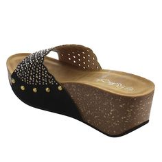 2c63e592fce Refresh Women s Rhinestone Studded Slip On Platform Wedge Sandal    To view  further for this item