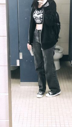 Swaggy Outfits, Edgy Outfits, Retro Outfits, Grunge Outfits, Cute Casual Outfits, Fashion Outfits, Tomboy Fashion, Grunge Fashion, Streetwear Fashion