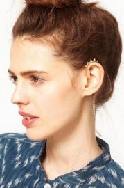 Punk Spike Embellished Chain Earring - Earrings