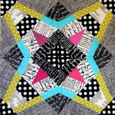 Refracted Star Block - Make a stunning star block quilt pattern for your next easy quilt pattern and star quilt projects,