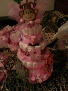 Baby shower cake, safari theme, girl