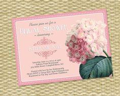 Vintage Pink Hydrangea Bridal/Wedding or by SunshinePrintables, $18.00