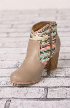Aztec Ankle Boots {Jane Deals}