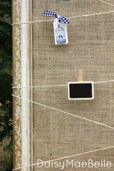 Burlap and Twine Frame - Burlap Projects