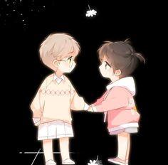 Romantic Anime Couples, Anime Couples Manga, Cute Anime Couples, Anime Guys, Manga Anime, Anime Art, Manga Cute, Cute Anime Chibi, Night Sky Wallpaper