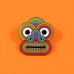 69a4acc73e9 Rainbow Face Pin Pin And Patches